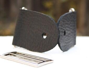 """2"""" Black Guitar Strap Kit - Nickle Slider"""