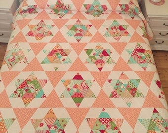 Starlight Queen Size Quilt in Bonnie and Camille Fabrics