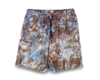 Boho Festival Short, Mens Short, Hand-dyed Batik Short, Boho Cotton Short, Mens Festivalwear, Batik Boho Short
