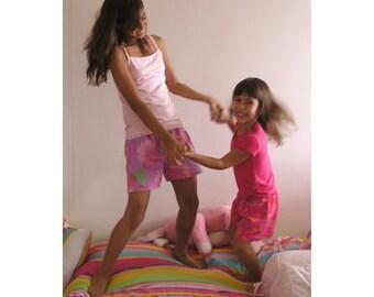 Girls Pajama Short, Pink Pajama Set, Girls Shorts, Birthday Girl Gift Set, Girls Pink Pajamas