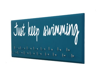 Swimming, just keep swimming, Just Keep Swimming, Use a awards display rack to display your swimming awards