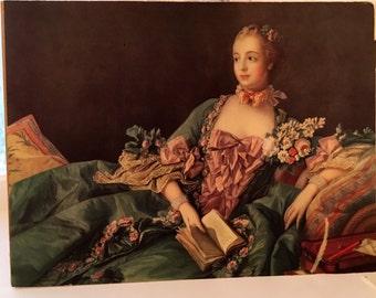 Vintage Reclining Lady Print