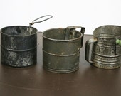 Vintage Sifter - Lot of 3 Metal Flour Sifters