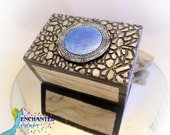 STARGATE Box- wooden chest detailed 3-d Stargate and faux stone lid- get your name on it