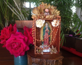Our Lady of Guadalupe Nicho/Shrine/Altar Piece.