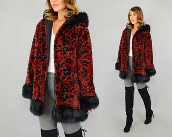 60's Tapestry Hooded Coat