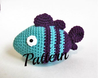 Fish, Crochet Fish Pattern, Crochet Baby Rattle, Fish Baby Rattle, Baby Rattle Pattern, Baby Toy, Fish Toy, Fish Doll, Crochet Fish Pattern