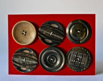 Large Vintage Coat Buttons for Sewing and Crafting