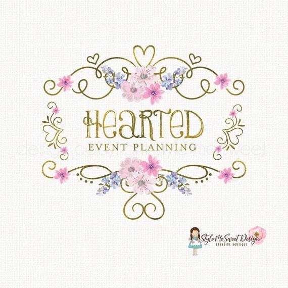 event planner logo wedding logo design heart logo design