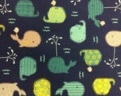 Whales - Quilting Cotton Fabric - BTY