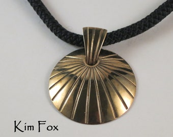 Shell Pendant with large bail Golden Bronze designed by Kim Fox
