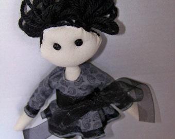 Cloth doll, fabric doll, hand-made, OOAK, kawaii, tilda - Clearance