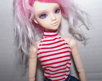 Pullip clothes - red and white striped halter top