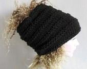 Dreadlock Hat Oatmeal Dread Tam Dread Hat Warm Winter Slouch Knit Oversized Hat Women Knit Hat Slouchy Hat Hand Knit Hat knit ethnic hat