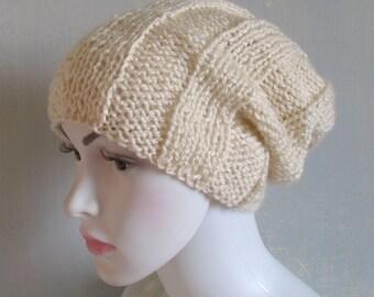 Mens beanie Slouchy Beanie Hand Knitted Knit Warm Hat Mens Cap Boys Men Chunky Black Hats Mens Winter Beanie Teen Boy Men Slouchy Hat Knit H