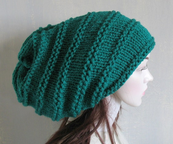 Knitted Dreadlock HatChanky Beanie Large Beanie by ...