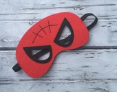 Layered Spiderman Felt Mask  Spiderman Mask Superhero Mask Birthday Mask