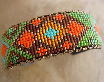 Loomed Geometric Bracelet