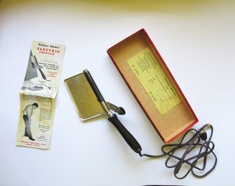 Vintage Electric Presser, Empire Products, Trouser Press, Seams Pleats Coats Ties, 30s 40s fashions Jackpot Jen