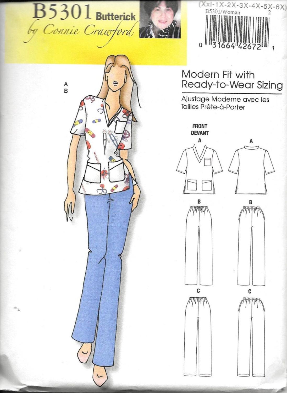 nursing scrub top sewing pattern pdf
