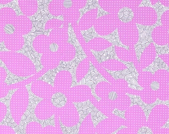 CLEARANCE - Erin McMorris Weekends - Dots and Loops in Violet - 1 yard