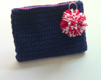 Purse, Cosmetic Bag, Makeup Bag, Zipper Clutch, Mini Purse, Travel Pouch