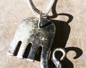 Tarnished Elephant Fork Pendant