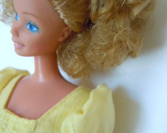 Vintage Barbie Curly Blonde Hair 1970s Collectible Doll
