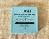 "VINTAGE metal English "" T.J Smith & Nephew Ltd "" Jelonet tin. VINTAGE ADVERTISING. Made in England."