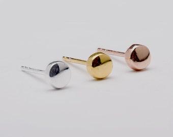 Dainty Dot Studs, Sterling Silver & Gold Plated, Dainty Post Earrings, Minimal Stud Earrings, Modern Jewelry, Gift under 20USD, STD064
