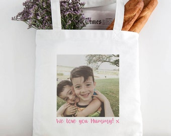 Photo Message Tote Bag
