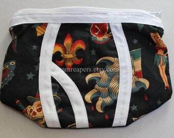 tattoo underwear zipper purse