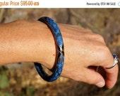 Asian, Dragon Scale, Blue Cloisonne Bracelet