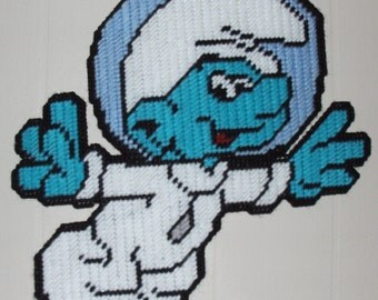 Astro Smurf Plastic Canvas Pattern