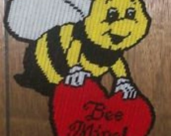 Bee mINE Plastic Canvas Pattern