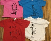 4 4t shirts as pictured with Norwegian prints.