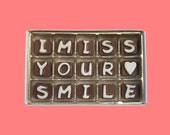 Long Distance Relationship Boyfriend Gift Girlfriend Valentines Love Gift I Miss Your Smile Cubic Chocolate Letter Anniversary APO Canada