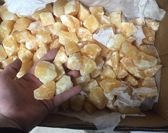 1lb Yellow Calcite Crystals