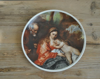 Vintage china plate - Classical scene - Mother and Child