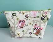 Upgrade Special Order for W for two-sided embroidered owl knitting bag