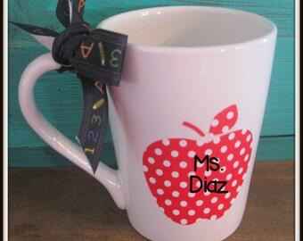 Personalized  Coffee Mug  Teacher Appreciation Gift Monogram Back to School