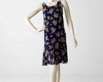 SALE 1960s drop waist dress from Bullock's Wilshire, vintage floral dress