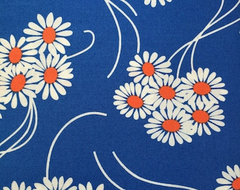 Daisy Bouquet in Royal Blue, Katy Jump Rope Collection from Denyse Schmidt for Free Spirit Fabrics, 1/2 yd
