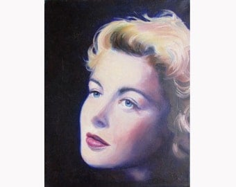 Oil painting of Ingrid Bergman