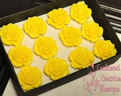 A Dozen Yellow Roses - Valentine's Day Special Thumbtacks Perfect For Gifts, Bridesmaids, Shower Favor, Teachers, Housewarming