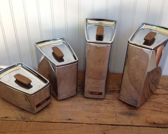 Vintage Metal Canister Set - Lincoln BeautyWare