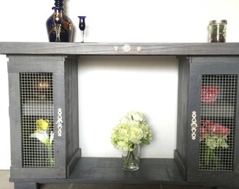Rustic Entryway Table With Storage, Sofa Table, Console Table