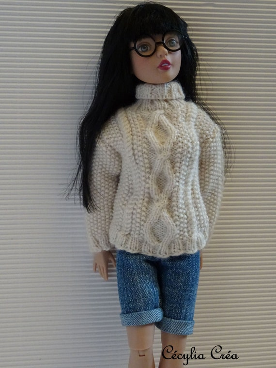 228. French and english knitting pattern PDF - Sweater and hat for Agatha Pri...