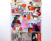 CUSTOM ORDER 75 Piece Paper Pack CHOICE of Color or Subject - Ephemera Collection for paper lovers Scrapbooking Collages Journal Mixed Media