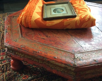 Bajot // Low Table // India Style // Moroccan // Orange // Shipping Included in the U.S.